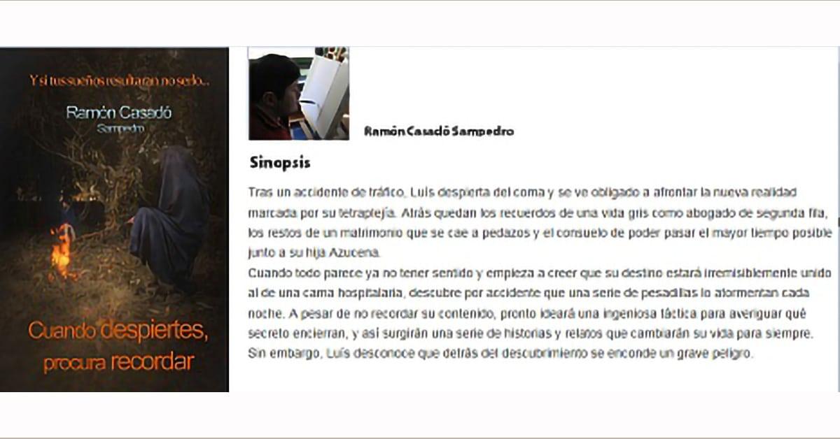 Ramón Casadó, pintor con la boca, presenta su libro