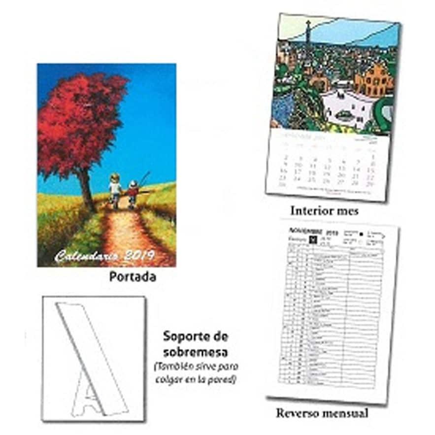calendario mesa pared 2019