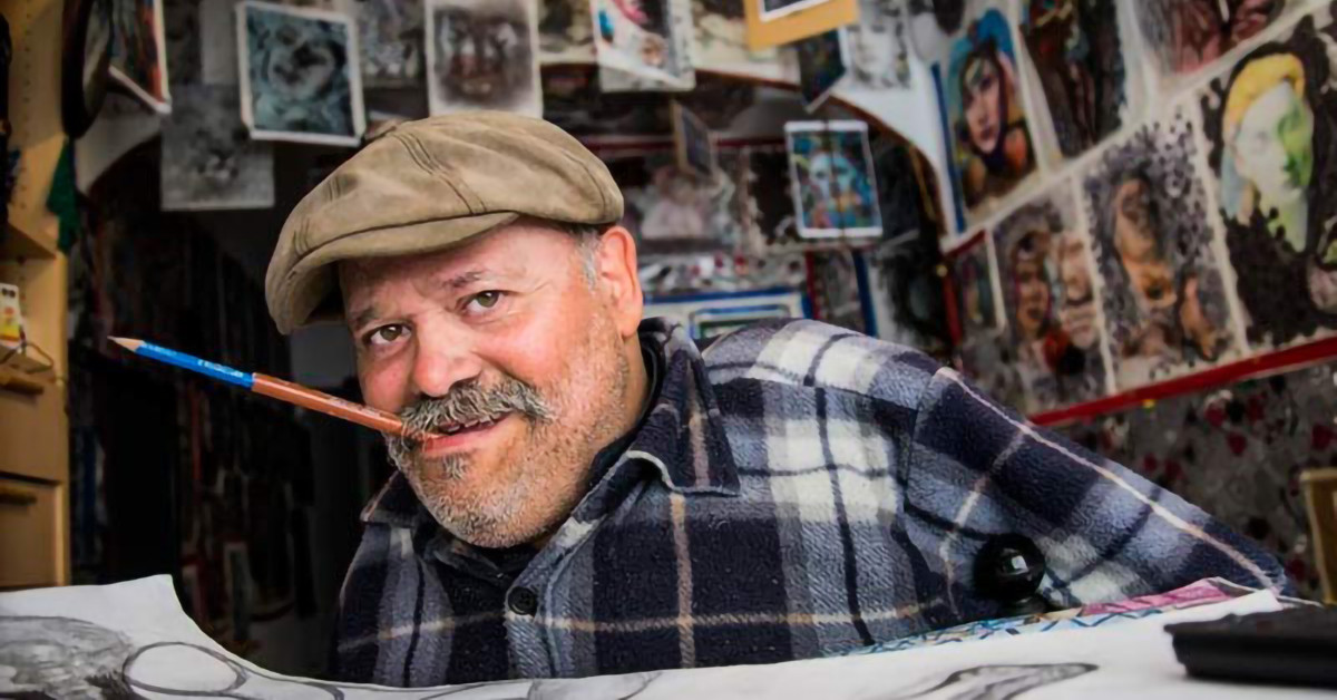 Homenaje a Davel, pintor con la boca