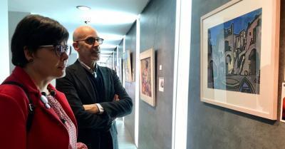 Exposición Internacional de Pintores con la Boca y con el Pie en Santiago de Compostela