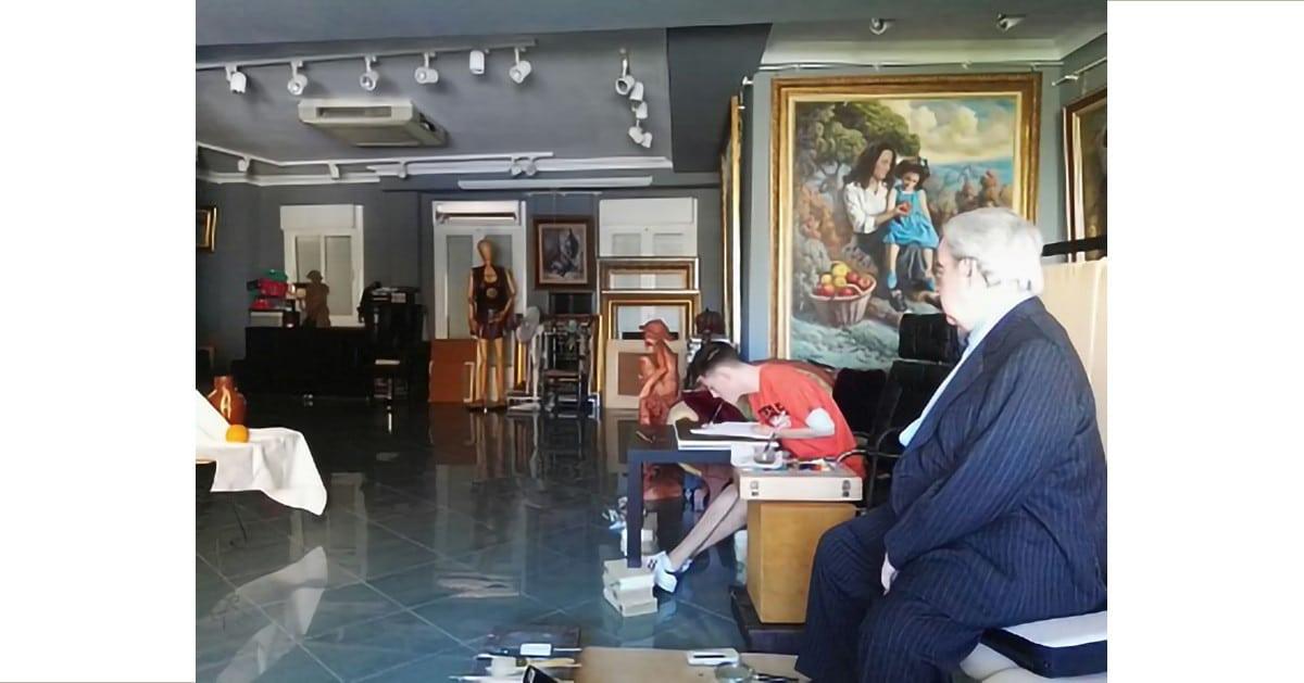 Lorenzo visita al Profesor Manuel Parreño