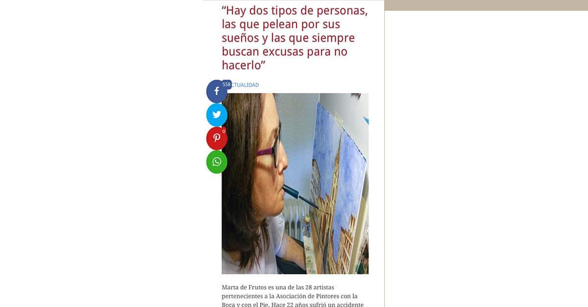 Reportaje a Marta de Frutos en Revista InfoMédula