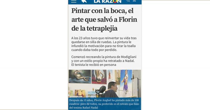El diario La Razón entrevista a Florín Anghel