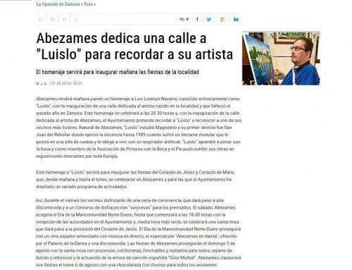 Abezames rinde homenaje a Luislo