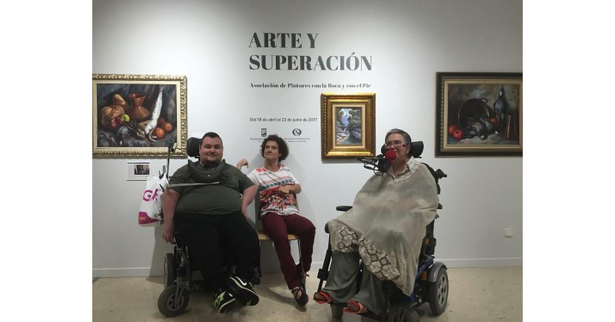 Exposición Internacional de Pintores con la Boca y con el Pie en Málaga