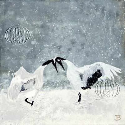 Dancing crane birds (Grullas bailando) (Brit Grøtterud Skotland, 2018)