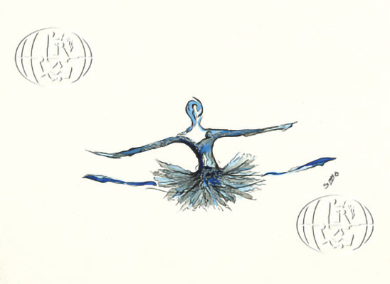 """Blue Dancer"" Simona Atzori, 2016, Italia"