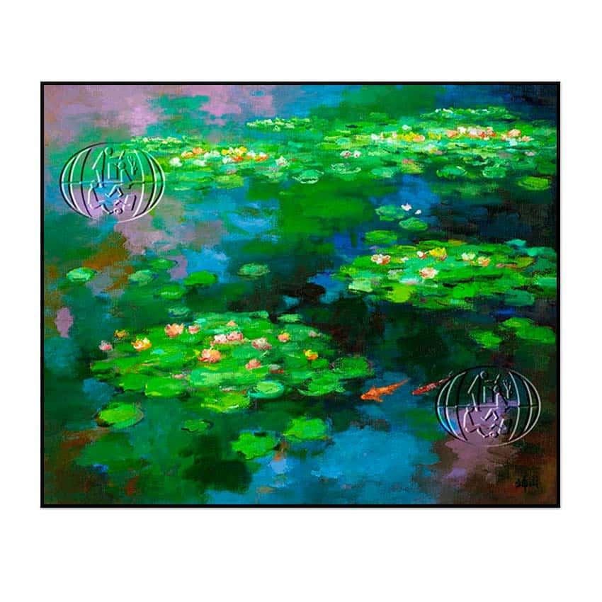 """""""Nenúfares y peces en el estanque"""" de Kun-Shan Hsieh"""