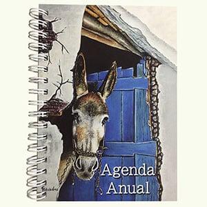 regalos solidarios: agenda burro