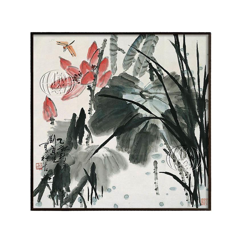 Libelle vor rosa Blüte by Jingsheng LIU