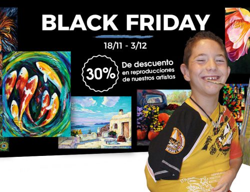 Black Friday en la tienda de la Asociación de Pintores con la Boca y con el Pie