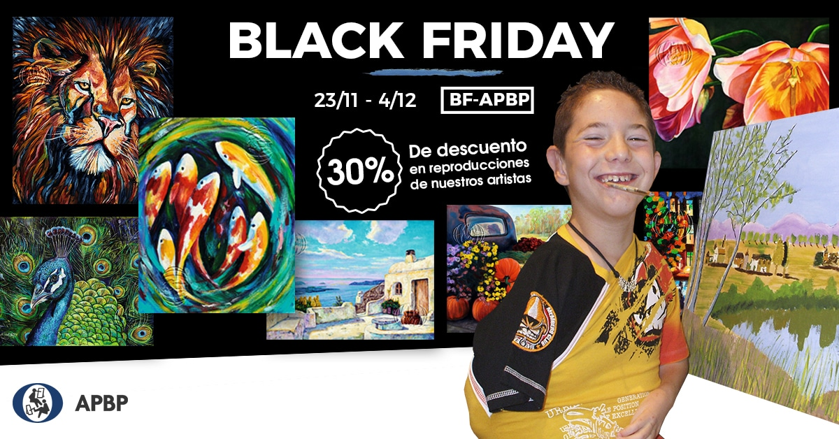 black friday en la tienda de pintores boca y pie