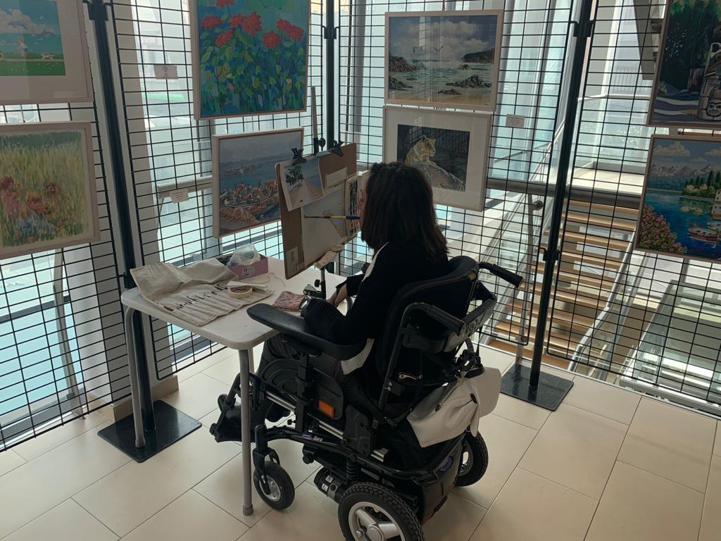 exposición de pintura asociación de pintores boca pie en Torrejón de Ardoz