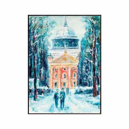 """""""Winterspaziergang im Park Sanssouci"""" de Thomas KAHLAU"""
