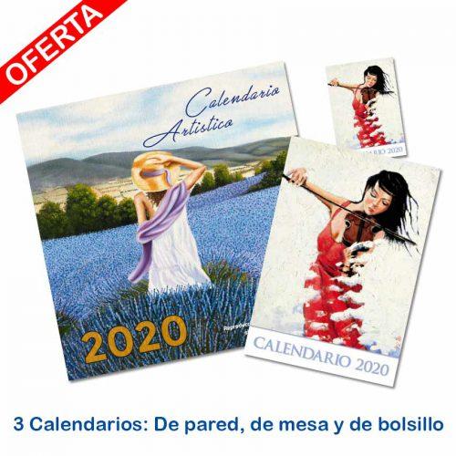 Pack 3 calendarios 2020