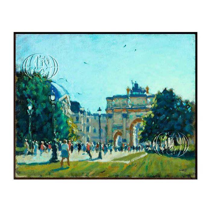 """""""Arc du Triomphe du Carrousel, Paris"""" de Christopher Keith JANSZ"""