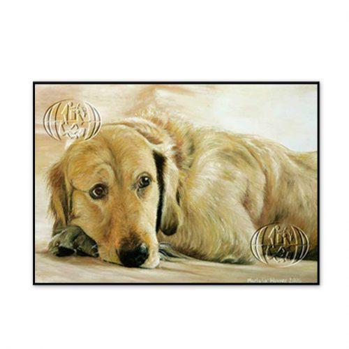 """Perro dorado descansando"" de Mariola Wower"