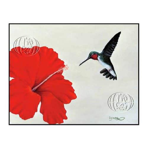 """""""Colibrí y flor"""" de Lynda C. HAMILTON"""
