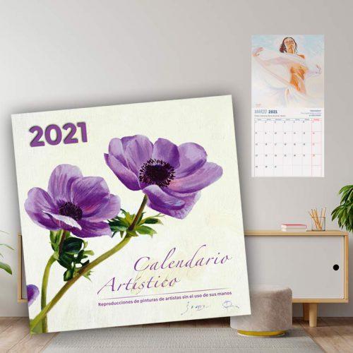 Calendario Pintores con la Boca y con el Pie 2021