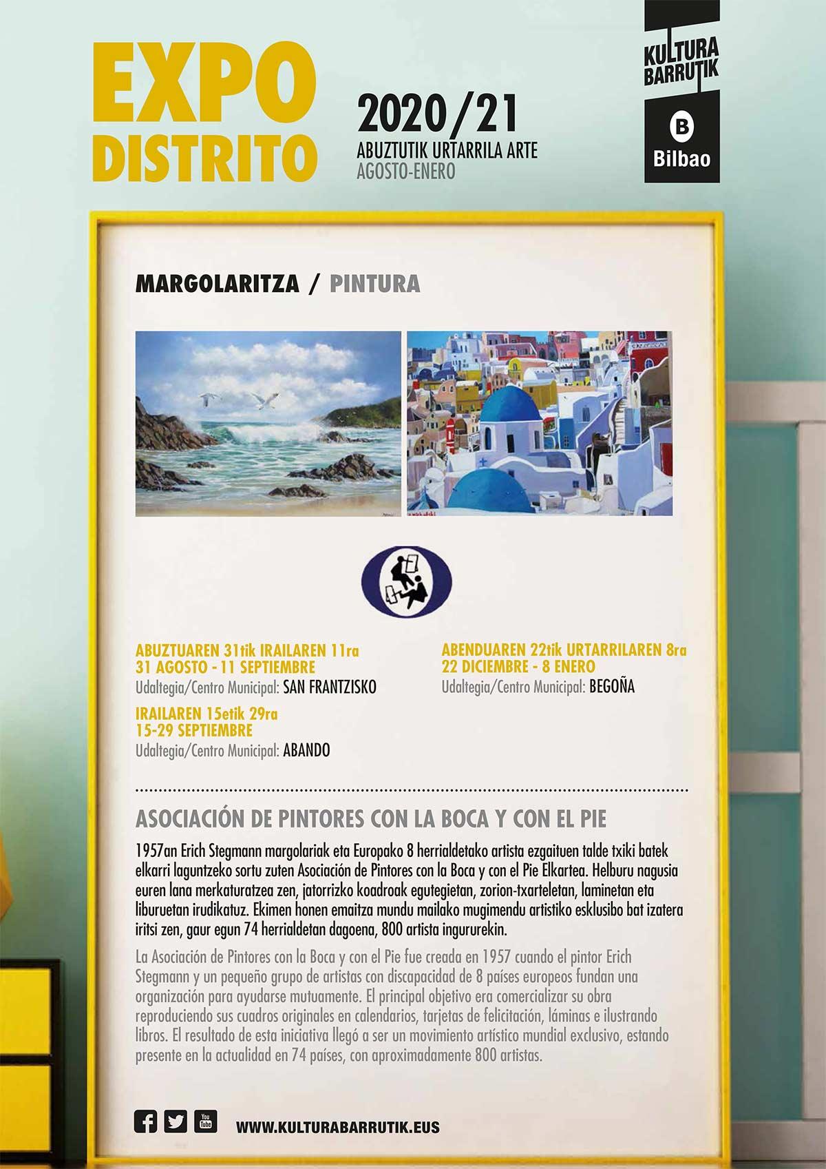 Exposición Internacional de la Asociación de Pintores con la Boca y con el Pie en Bilbao