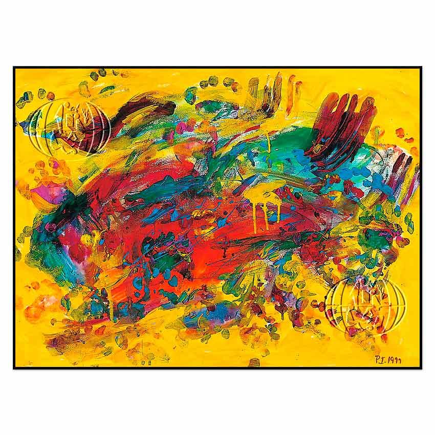"""Komposition in rot und gelb"" de Panajoita INTZILAKI"