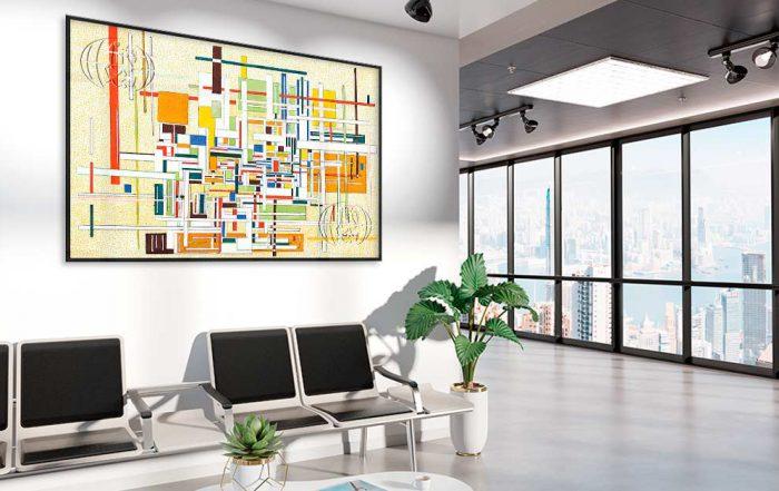 decorar con cuadros abstractos