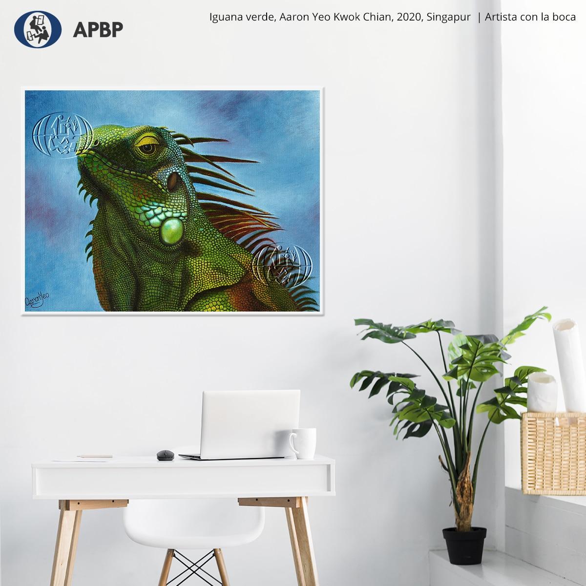 """""""Iguana verde"""" de Aaron Yeo Kwok Chian"""