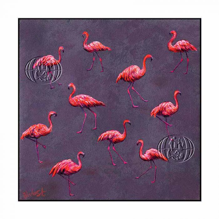 """""""Flamencos flotantes"""" de Barry West"""