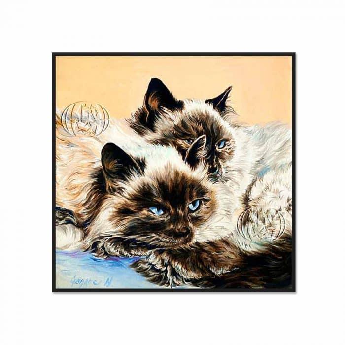 """""""2 gatos"""" de Nevenka GORJANEC"""