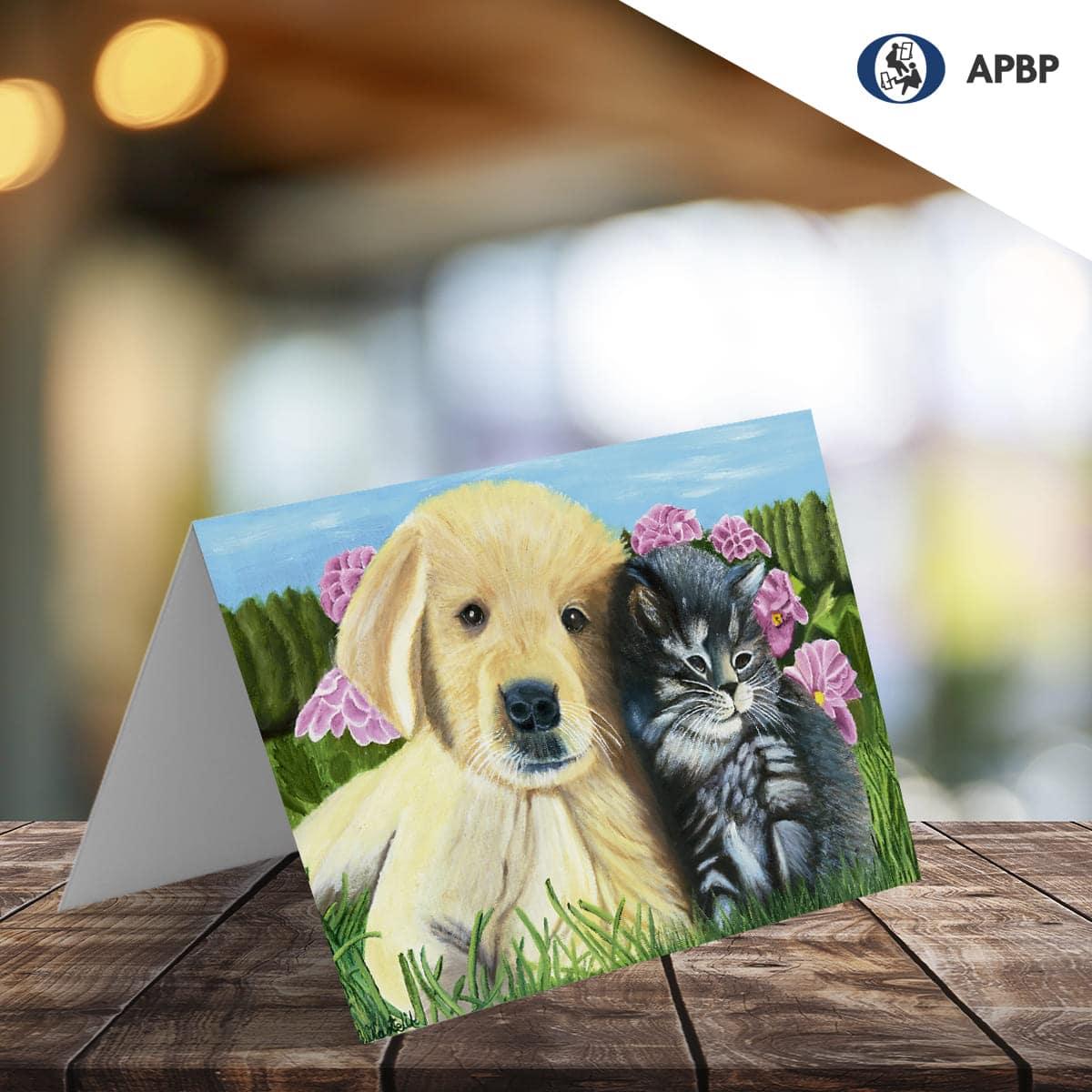 tarjeta de felicitación de animales
