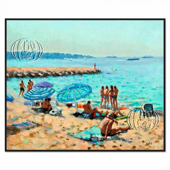 """Playa de la Riviera Francesa"" de Christopher Keith Jansz"