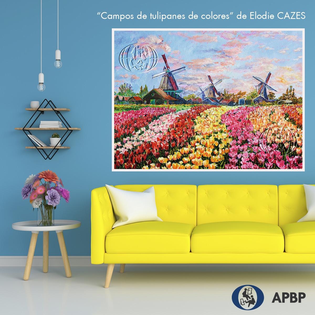 """""""Campos de tulipanes de colores"""" de Elodie CAZES"""