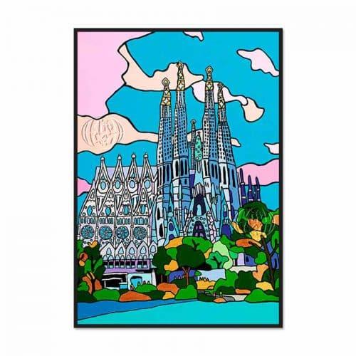 """""""Sagrada Familia en construcción"""" de Lars HÖLLERER"""