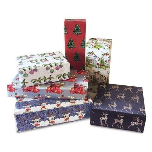 Papel de regalo de navidad